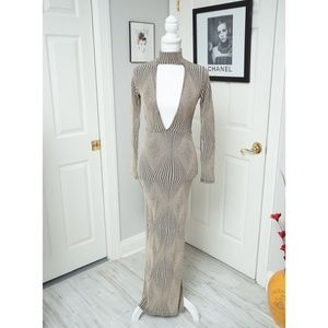Fashion Nova Plunge Maxi Choker Dress - NWOT